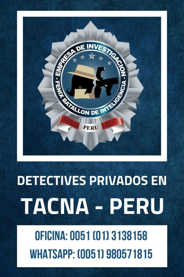 INVESTIGACIÓN PRIVADA FBI EN TACNA - PERU